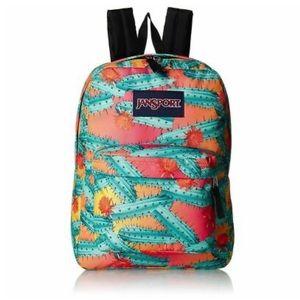 NEW Jansport Superbreak Backpack - CACTUS FLOWERS